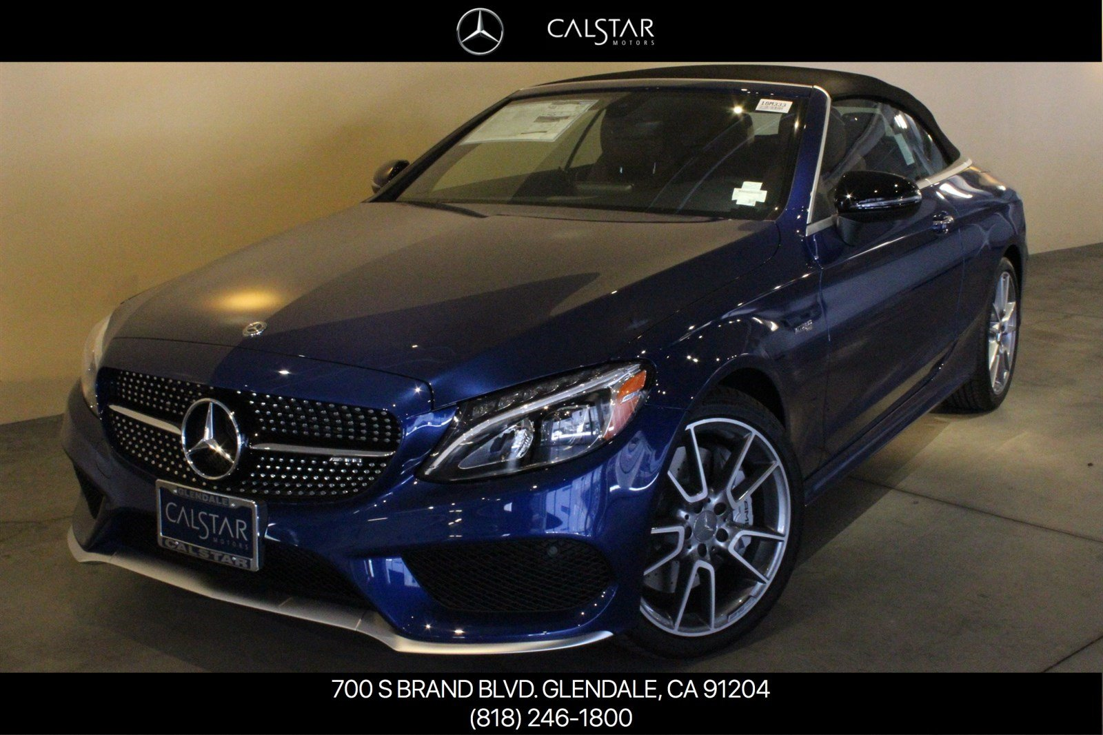 New 2018 mercedes benz c class amg c 43 cabriolet for Calstar mercedes benz